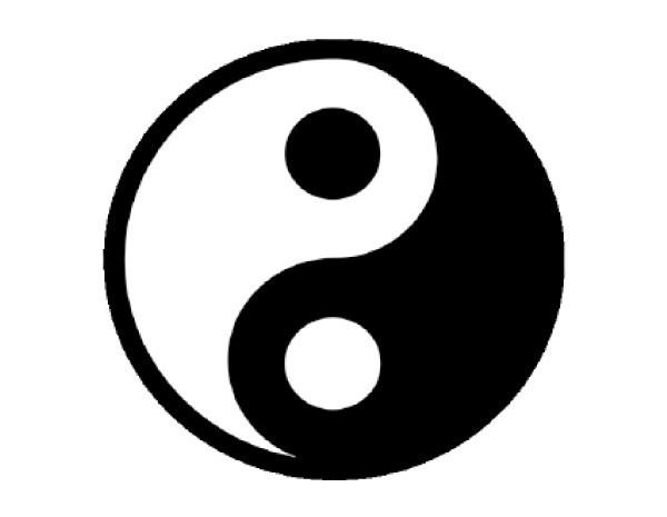 "SKY251 4.5"" Yin Yang Sticker"
