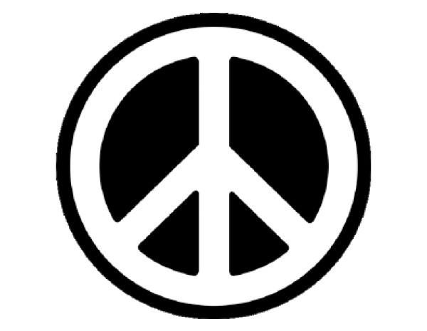 """SKY273 4.5"""" Peace Sticker"""