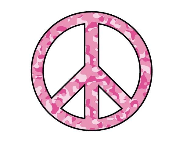 "STAR177 4.5"" ""Pink Camo Peace"" Sticker"