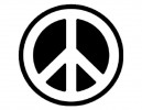 "SKY305 Starshine Arts 2"" Peace Sign Sticker"