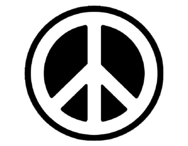 "SKY305 Starshine Arts 2"" Peace Sign Sticker"