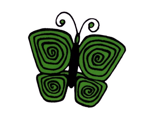 """SKY113 Root Concepts 3"""" """"Butterfly"""" Sticker"""