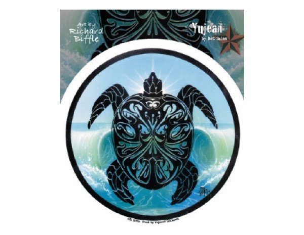 "SKY5 Net Sales ""Parting Waves Turtle"" Sticker"