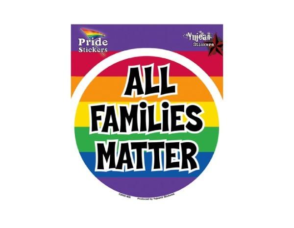 """SKY7 Net Sales """"All Families Matter"""" Sticker"""