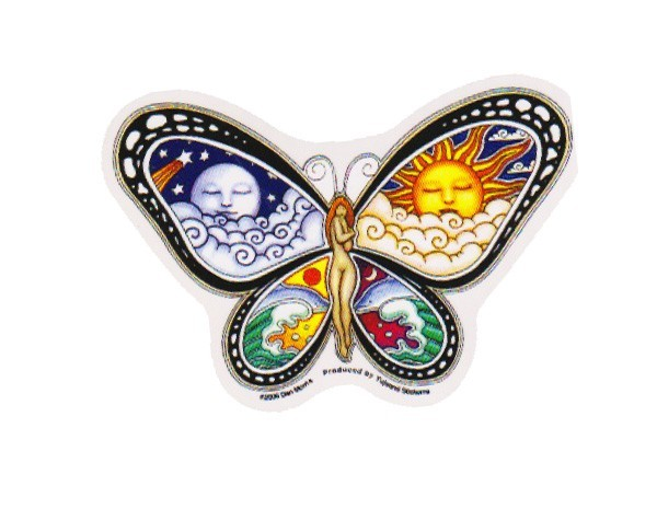 "SKY11 Net Sales ""Morris Woman Butterfly"" Sticker"