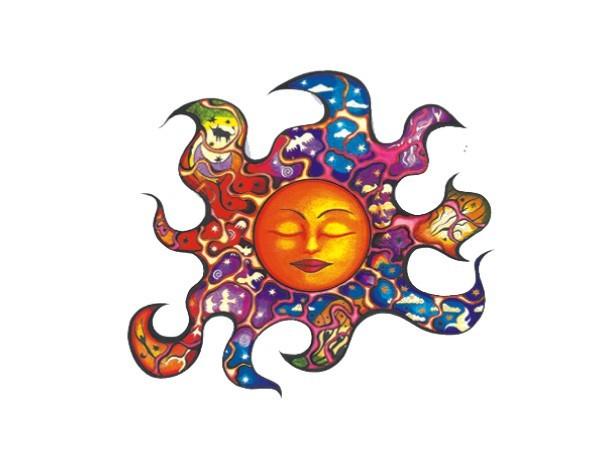 "SKY927 Net Sales ""Ripple Sun"" Sticker"