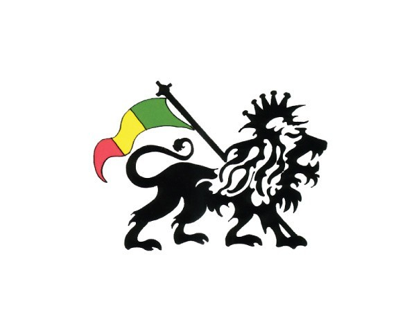 "SKY627 Happylife Productions ""Black Rasta Lion"" Sticker"