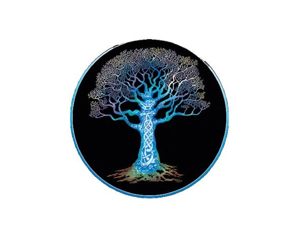 "SKY810 Happylife Productions ""Knotwork Tree"" Sticker"