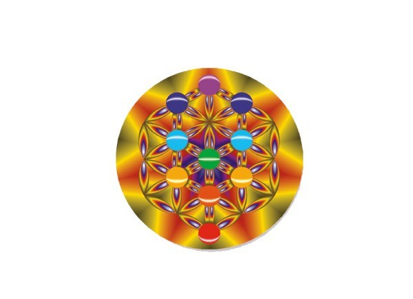 "SKY820 LightSource Arts ""Fruit and Flower of Life"" Sticker"