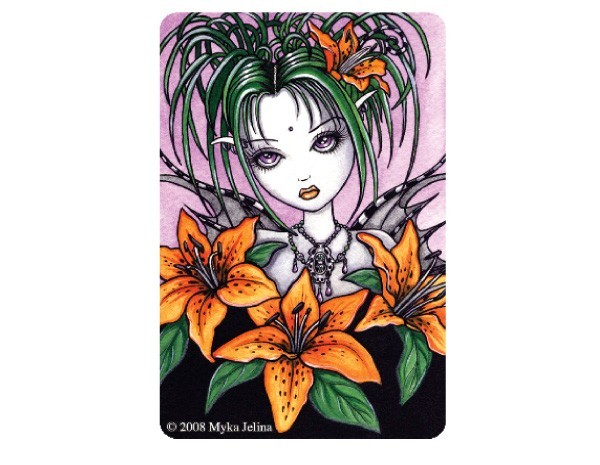 "STAR153 Myka Jelina ""Ayla Tiger Lilly"" Sticker"