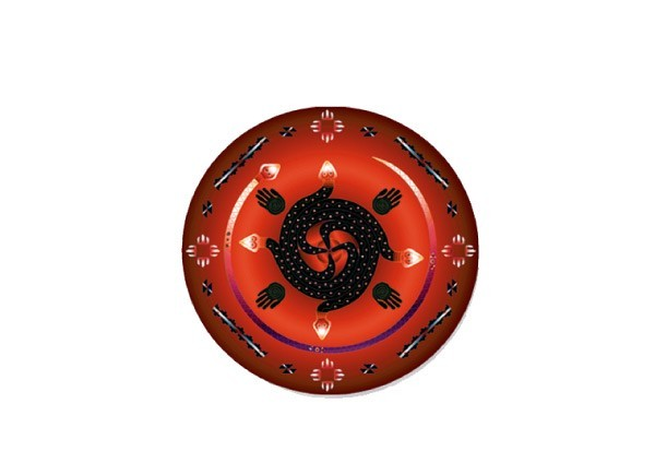 "SKY822 LightSource Arts ""Mayan Tzolk'in Mandala"" Sticker"