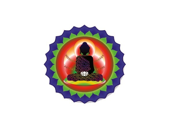 "SKY826 LightSource Arts ""White Lotus Buddha"" Sticker"