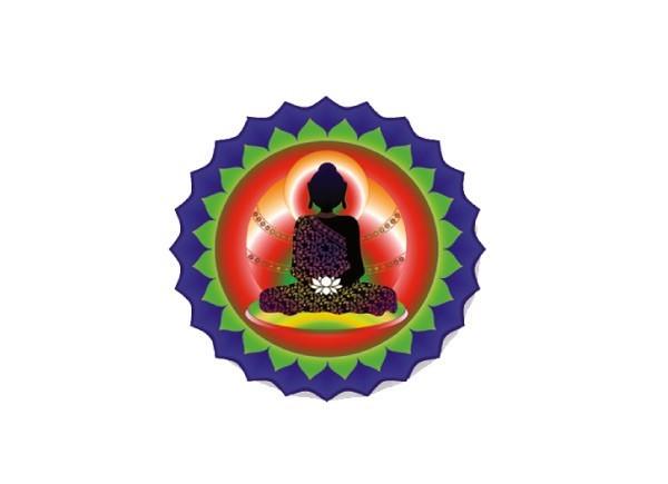 "SKY826 LightSource Arts ""White Lotus Buddha"" Sticker"