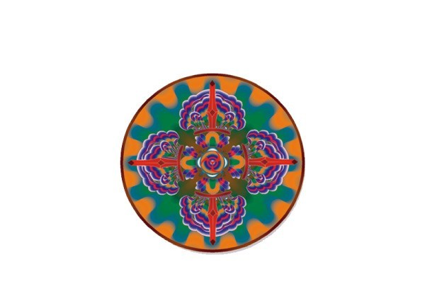 "SKY830 LightSource Arts ""Om Mandala"" Sticker"