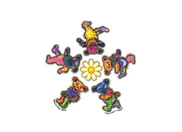 "SKY4 Grateful Dead ""GD Daisy Bears"" Sticker"