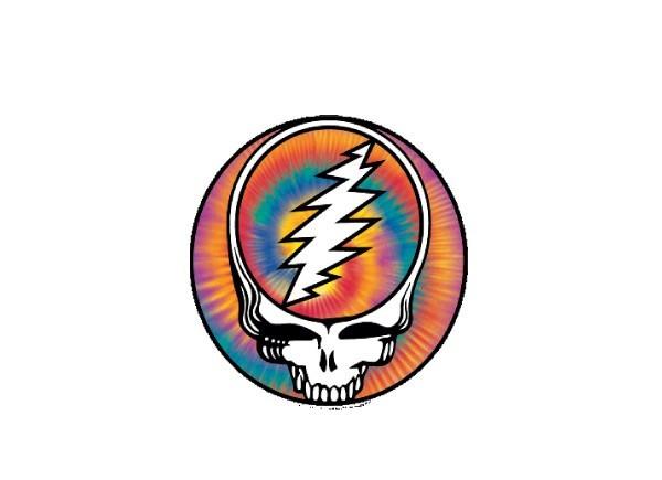 """SKY16 Grateful Dead """"Skeleton and Roses"""" Sticker"""