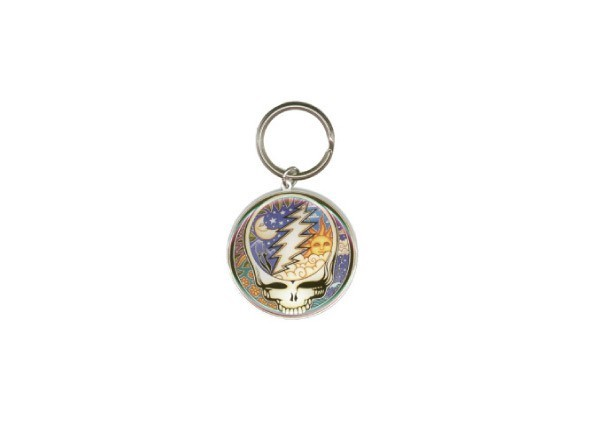 """KC3 """"Grateful Dead Metal Steal Your Face"""" Keychain"""