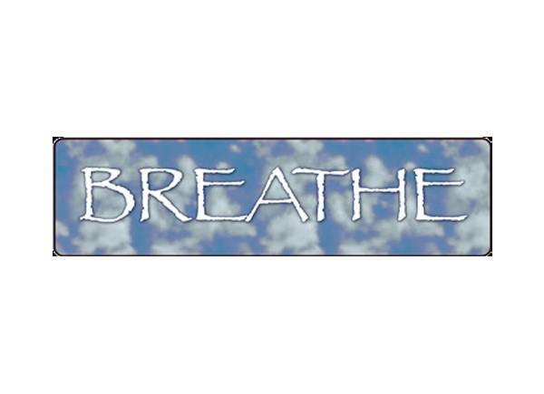 "JR132 Starshine Arts ""Breathe"" Mini Bumper Sticker"
