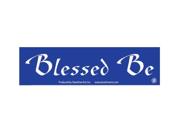 "JR133 Starshine Arts ""Blessed Be"" Mini Bumper Sticker"