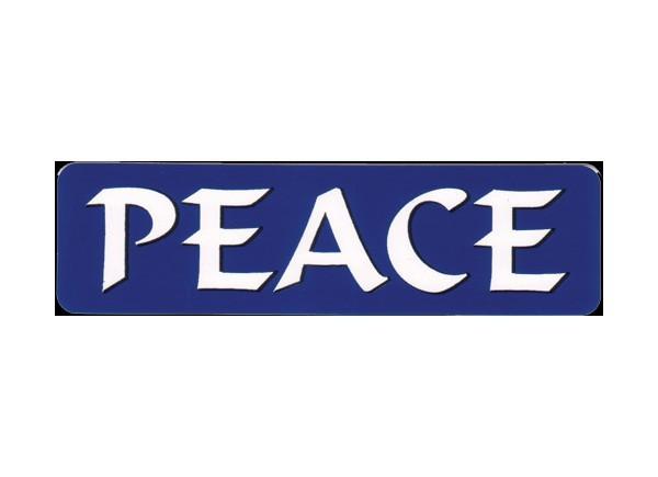 "JR275 Starshine Arts ""Peace"" Mini Bumper Sticker"