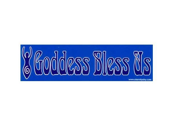 """JR317 Starshine Arts """"Goddess Bless Us"""" Mini Bumper Sticker"""