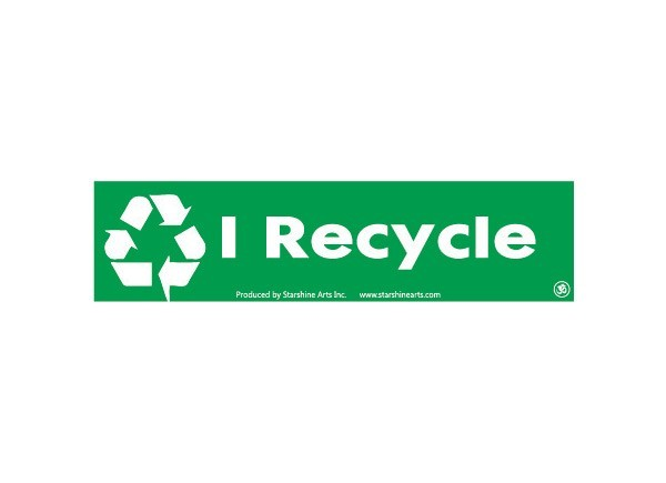 "JR343 Starshine Arts ""I Recycle"" Mini Bumper Sticker"