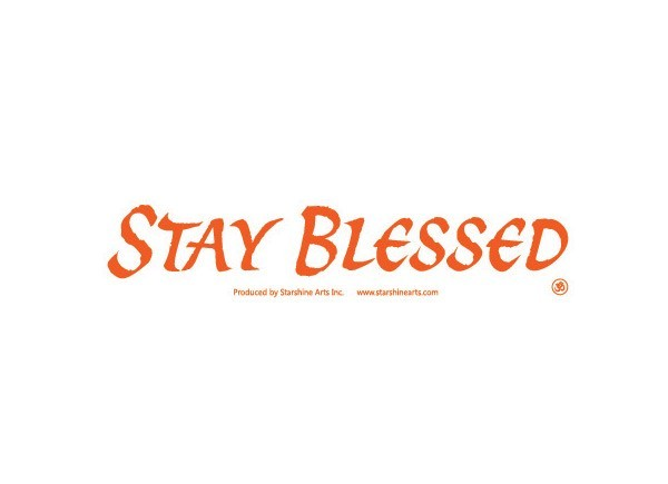 "JR348 Starshine Arts ""Stay Blessed"" Mini Bumper Sticker"