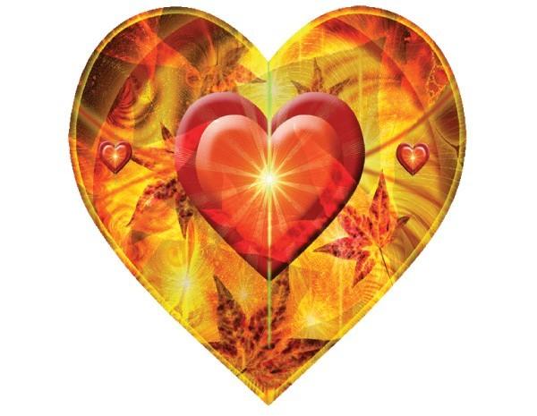 "STAR141 Alix Mullins ""Autumn Heart:"" Sticker"