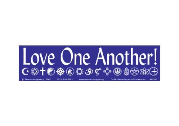 "JR190 Peacemonger ""Oval Coexist"" Mini Bumper Sticker"