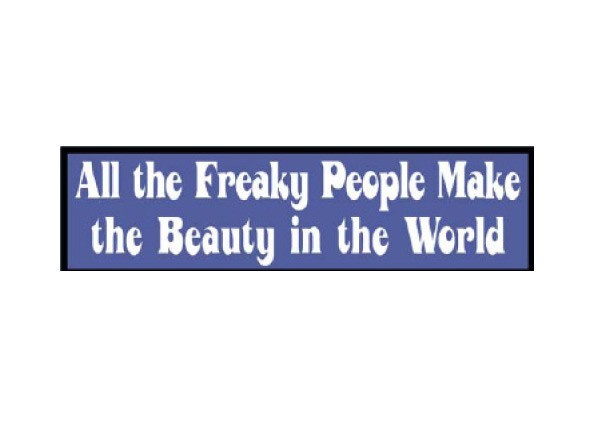 "JR47 New sKool ""All the Freaky People"" Mini Bumper Sticker"