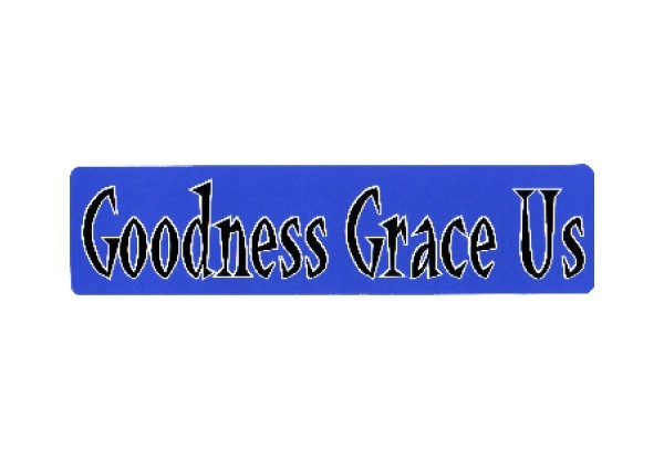 "JR111 New sKool Goodness Grace Us"" Mini Bumper Sticker"