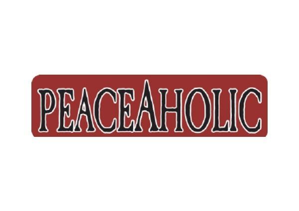 """JR116 New sKool """"Peaceaholic"""" Mini Bumper Sticker"""