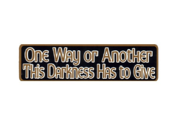 "JR205 New sKool ""The Darkness Has To Give"" Mini Bumper Sticker"