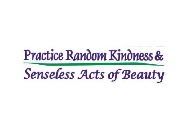 "JR73 Peace Resource Project ""Practice Random Kindness"" Mini Bumper Sticker"