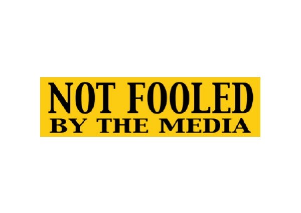 "JR8 Root Concepts ""Not Fooled By the Media"" Mini Bumper Sticker"