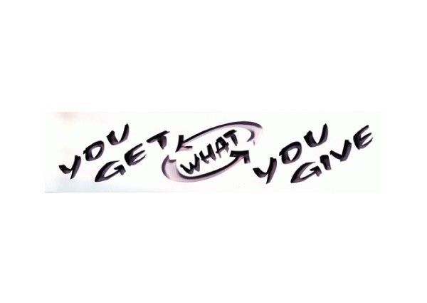 "JR15 Root Concepts ""You Get What You Give"" Mini Bumper Sticker"