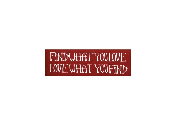 "JR39 Root Concepts ""Find What You Love"" Mini Bumper Sticker"