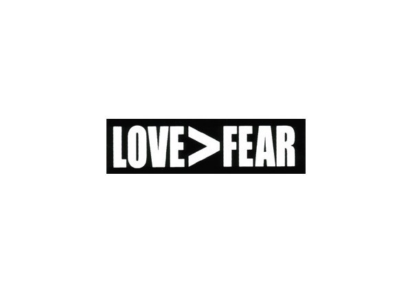 "JR60 Root Concepts ""Love Greater than Fear"" Mini Bumper Sticker"