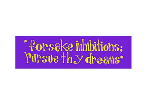"JR66 Root Concepts ""Forsake inhibitions"" Mini Bumper Sticker"