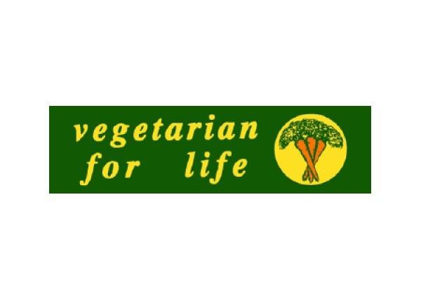 """JR68 Root Concepts """"Vegetarian For Life"""" Mini Bumper Sticker"""