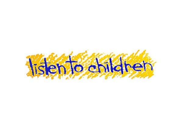 "JR70 Root Concepts ""Listen to Children"" Mini Bumper Sticker"