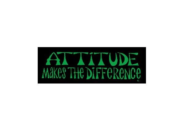 """JR81 Root Concepts """"Attitude Makes the Difference"""" Mini Bumper Sticker"""