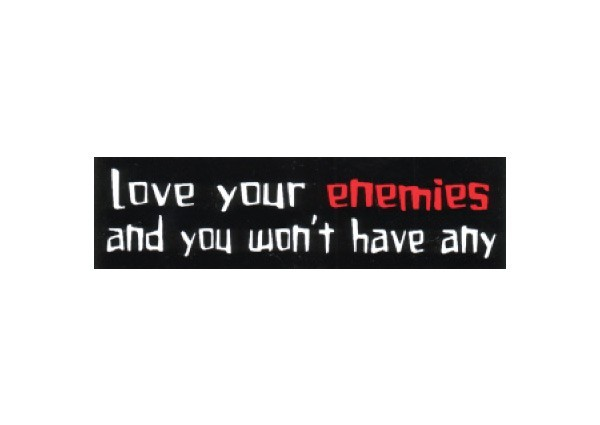 "JR101 Root Concepts ""Love Your Enemies"" Mini Bumper Sticker"