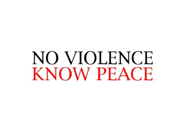 "JR128 Root Concepts ""No Violence, Know Peace"" Mini Bumper Sticker"