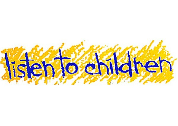 "PC239 Root Concepts ""Listen to children"" Bumper Sticker"