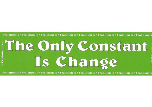 "PC248 Root Concepts ""Constant is change"" Bumper Sticker"