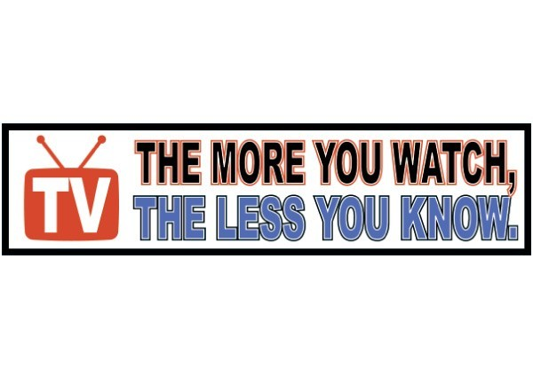 Pc35 new skool tv the less you know bumper sticker