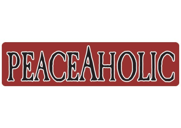 """PC110 New sKool """"Peaceaholic"""" Bumper Sticker"""