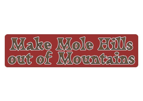 "PC111 New sKool ""Molehills out of Mountains"" Bumper Sticker"