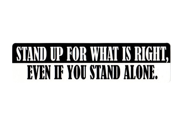 """PC115 New sKool """"Stand up for what is right"""" Bumper Sticker"""